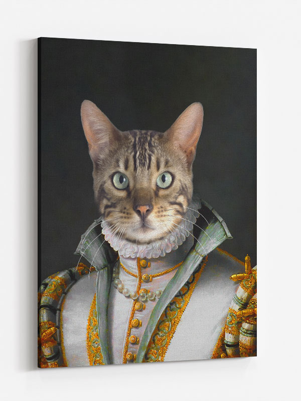 Victorian-Queen-Cat-Canvas-on-Wall